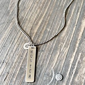 handmade Jewelry - Handmade custom name necklace with heart